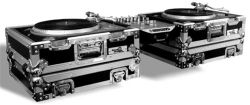 Road Ready RR1200HWS – Stackable Two Case Turntable Combo with Pull Out Handle and Low Profile Wheels
