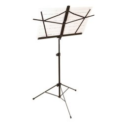 On Stage Stands SM7222B Tubular Tripod Base Sheet Music Stand (Black)
