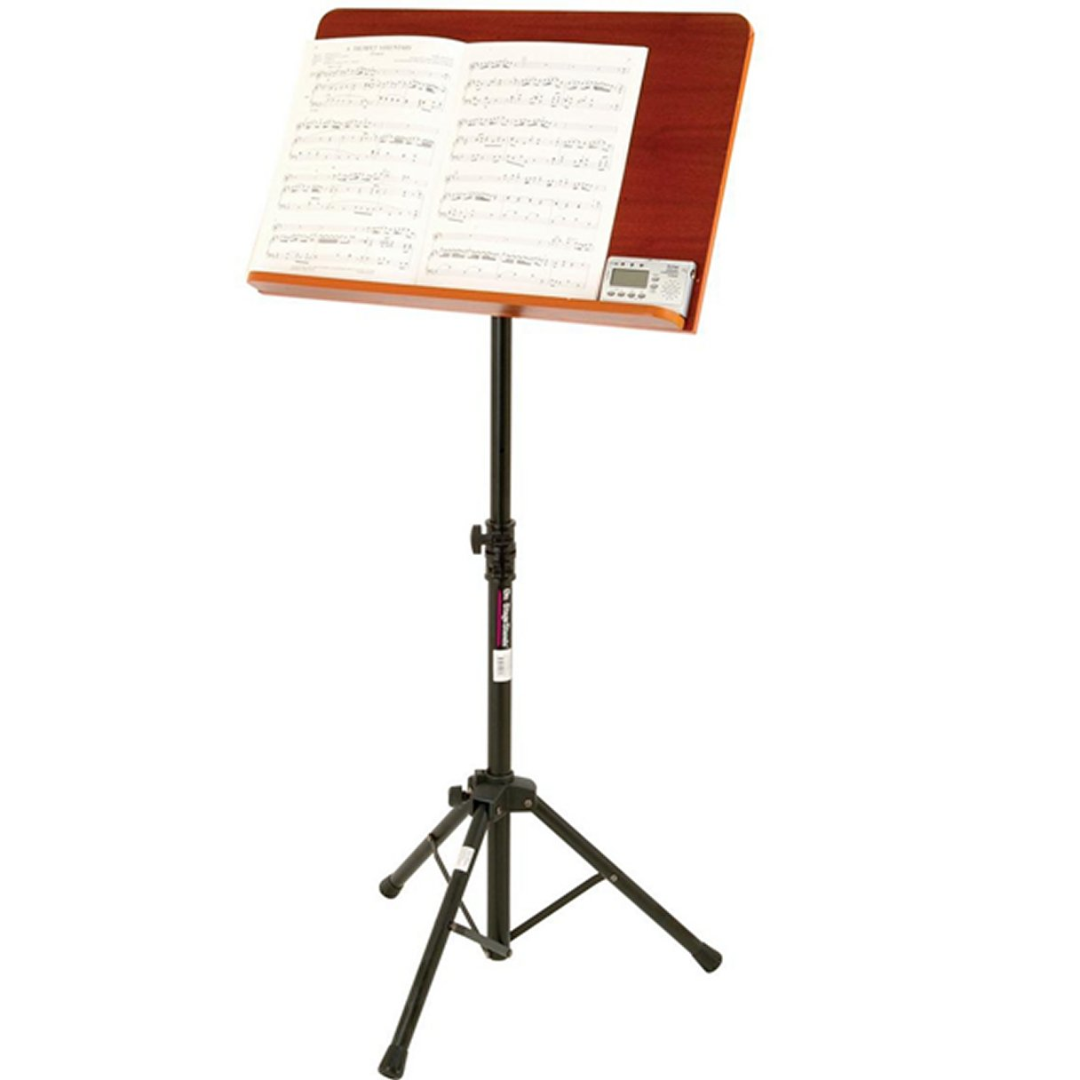On Stage Stands SM7312W Conductor Stand with Wide Rosewood Bookplate