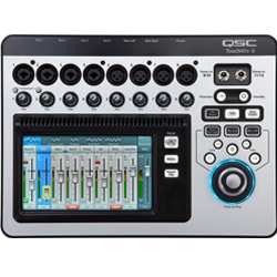 QSC Audio TOUCHMIX-8 8-Channel Digital Mixer with Touch Screen and Carrying Case