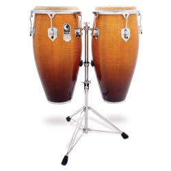 Toca 3100NF Elite Pro Wood Conga Set with Double Stand-Natural Fade