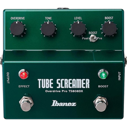 Ibanez TS808DX Tube Screamer with Booster 2 in 1 Guitar Pedal