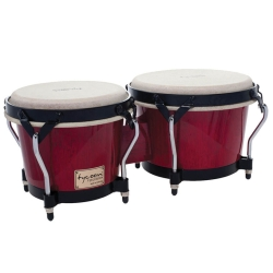 """Tycoon STB-B BR Supremo Series 7/8.5"""" Bongos in Red Finish"""