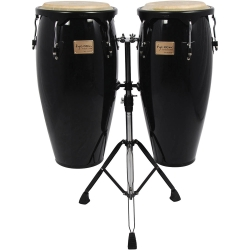 """Tycoon STC-B BK/D Supremo Series 10/11"""" Congas in Black Finish"""