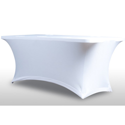 American Audio HD-EVENT-TABLE-SCRIM White 6 Foot Table Scrim with 5 Cable Pass Throughs