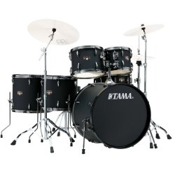 Tama IP62H6N-BBOB Imperialstar 6-Piece Drum Set with Hardware and Cymbals-Brushed Out Black