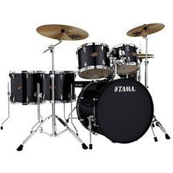Tama IP62H6N-HBK Imperialstar 6-Piece Drum Set with Hardware and Cymbals-HAIRLINE BLACK