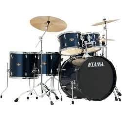 Tama IP62H6N-MNB Imperialstar 6-Piece Drum Set with Hardware and Cymbals-MIDNIGHT BLUE