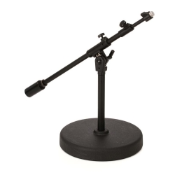 Tama MS736RELBK Iron Works Studioe Series Round Base Extra Low Profile Telescoping Boom Microphone Stand - Black
