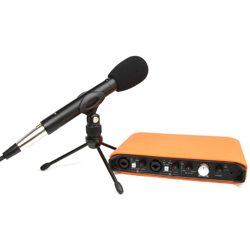 Tascam iXR-TP Powerful Audio Interface Package with Microphone and Accessories