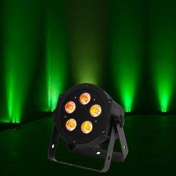 American DJ 5P-HEX Low Profile LED Par Fixturewith 5x10W HEX-RGBWA & UV LED