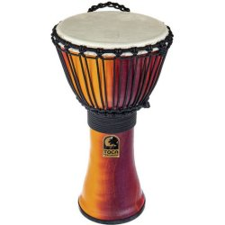 Toca SFDJ-10F Freestyle Rope Tuned 10-Inch Djembe - Fiesta Finish