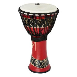 Toca SFDJ-10RP Freestyle Rope Tuned 10-Inch Djembe - Bali Red Finish