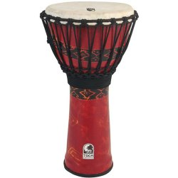 """Toca SFDJ12RP Synergy Freestyle 12"""" Rope Tuned Bali Red Djembe"""