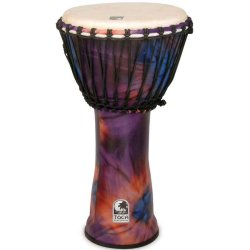 Toca SFDJ-12WP Synergy Freestyle Rope Tuned Djembe 12 in. Purple
