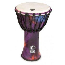 "Toca SFDJ-9WP Synergy Freestyle 9"" Rope Tuned Djembe - Woodstock Purple"