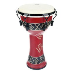 Toca SFDMX-10RP Freestyle Mechanically Tuned 10-Inch Djembe - Bali Red Finish