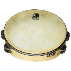 "Toca T1010-H Wood Tambourine 10"" Double Row W/Head"