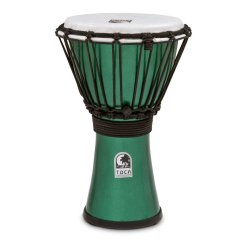 "Toca TFCDJ-7MG Freestyle Colorsound 7"" Djembe - Metallic Green"