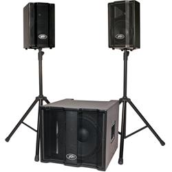 Peavey 03008830 TriFlex II 1000W 3 Piece Active Speaker Sound System with Subwoofer