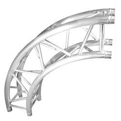 Trusst CT290-420CIR-90 Modular Aluminum 2m Quarter Circle Arc Truss Section