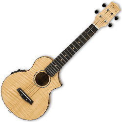 Ibanez UEW12EOPN-d Electric Ukulele in Open Pore Natural (discontinued clearance)