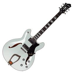 Hagstrom VIDLX-WHT 6 String Viking Deluxe Model Electric Guitar in White