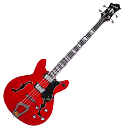 Hagstrom VIKB-WCT 4 String Viking Model Electric Bass in Wild Cherry Transparent