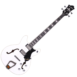 Hagstrom VIKB-WHT 4 String Viking Model Electric Bass in White