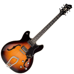 Hagstrom VIK-TSB 6 String Viking Model Electric Guitar in Tobacco Sunburst