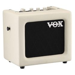 Vox MINI3-G2-IV Ivory 3W Battery Powered Busking Guitar Combo Amplifier with Aux/Mic In