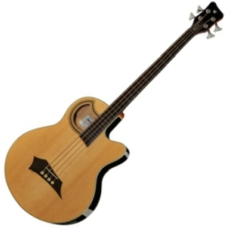Warwick C574 101CR RockBass Alien Standard 4 String RH Fretless Acoustic Electric Bass-Natural High Polish