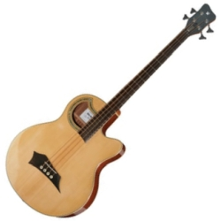 Warwick C574B100CR RockBass Alien Deluxe 4-String RH Acoustic Electric Bass-Natural High Polish