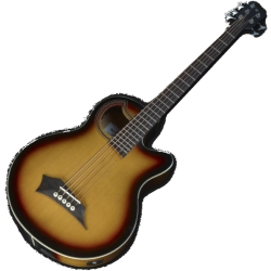 Warwick C575B680CR RockBass Alien Deluxe 5-String Acoustic Electric Bass-Vintage Sunburst