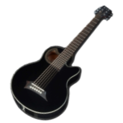 Warwick C576 230CR RockBass Alien Standard 6-String RH Acoustic Electric Bass-Black High Polish