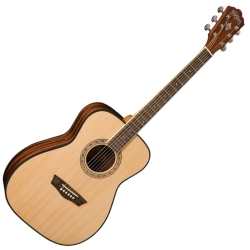 Washburn AF5K-A Apprentice 5 6-String RH Acoustic Folk Guitar with Hard Case