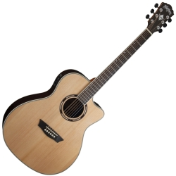Washburn AG70CEK-A Apprentice Series Grand Auditorium Style RH 6-String Acoustic Electric Guitar with Hard Case