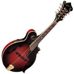 Washburn M3SWETWRK-D Americana Series Mandolin with Florentine Cutaway-Transparent Wine Red with Hard Case