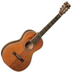 Washburn R314KK-D Parlor 6-string RH Acoustic Guitar-Natural Matte Finish with Hard Case