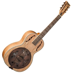 Washburn R360SMK-R Vintage Series Parlor Resonator with 1930s-Style Inlay Spalted Maple-Hard Case included