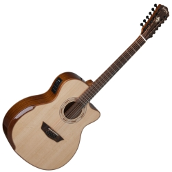 Washburn WCG15SCE12-O Comfort Series 12-string RH Acoustic Electric Guitar-Natural Gloss Finish