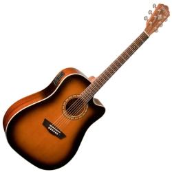 Washburn WD7SCEATB-O Harvest Series 6 String RH Acoustic Electric Guitar-Tobacco Sunburst