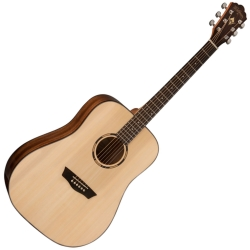 Washburn WLD10S-O Woodline Series 6-string RH Acoustic Guitar-Natural Gloss Finish