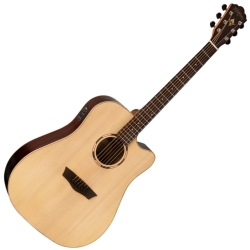 Washburn WLD20SCE-O Woodline Series 6-string RH Dreadnought Cutaway Acoustic Electric Guitar-Natural Gloss Finish