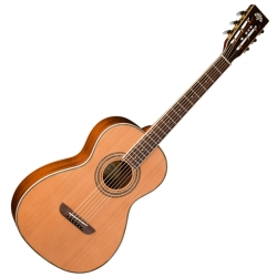 Washburn WP11SNS-D Harvest Series Parlor Style 6-string RH Acoustic Guitar-Natural Satin Finish