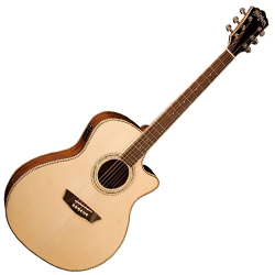 Washburn WCG18CE Comfort Series 6 String Acoustic Electric Guitar (discontinued clearance)