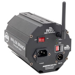 American DJ WIFLY-D6-BRANCH Wireless DMX Splitter Amplifier with ADJ's WiFLY Transceiver built-in