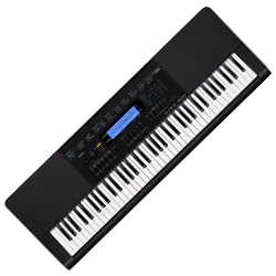 Casio WK245 76 Key Piano Style Touch Response Portable Keyboard with AC Adapter