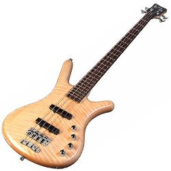 Warwick R504F100CR Natural High Polish RockBass Corvette Premium Active 4 String RH Bass Guitar