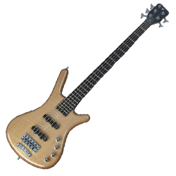 Warwick R505F100CR Natural High Polish RockBass Corvette Premium Active 5 String RH Bass Guitar